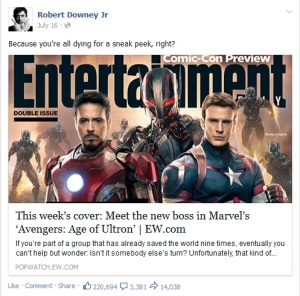 Zdroj: Facebook Robert Downey Jr